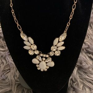 Diamond Necklace with white shape flower design